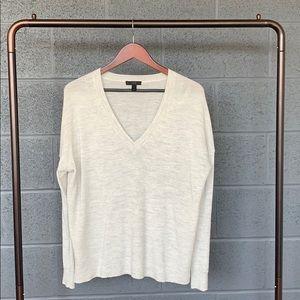 J. Crew Light Gray Merino Cotton Sweater
